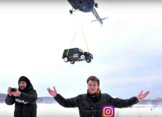 Zrzucił Mercedesa-AMG G63 z helikoptera. Zobacz dlaczego