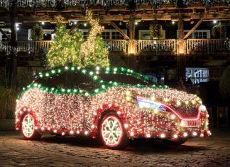 Moto-choinka, czyli Nissan Leaf w świątecznej odsłonie
