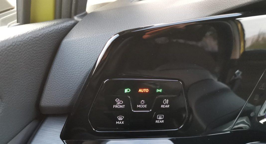 volkswagen golf viii 2020 panel oświetlenia
