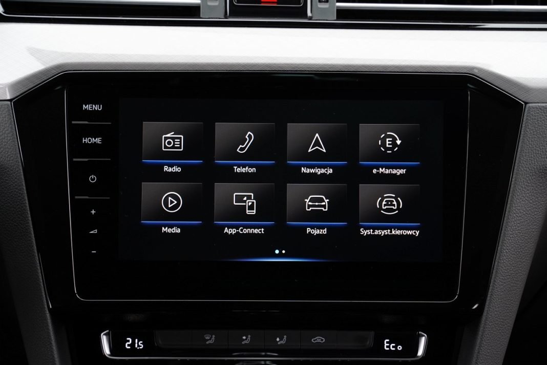 volkswagen passat variant b8 lifting 2019 system multimedialny