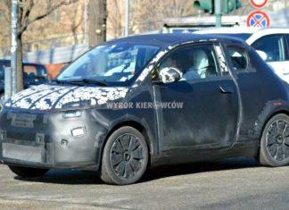 Nowy Fiat 500e przyłapany podczas testów