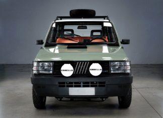 Klasyczny Fiat Panda 4x4 z napędem elektrycznym