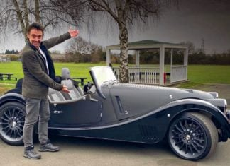 Richard Hammond i Morgan Plus Six