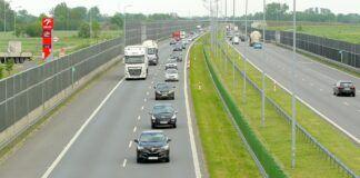Autostrada - lewy pas