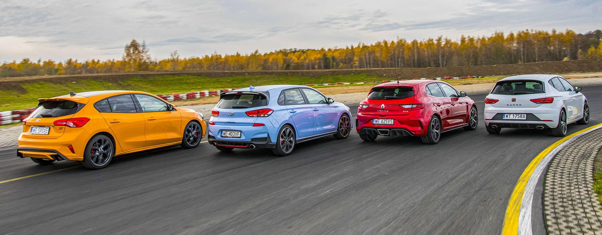 Ford Focus ST, Hyundai i30, Renault Megane RS, Seat Leon Cupra