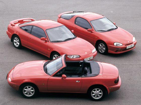 Mazda MX-5, MX-6, MX-3