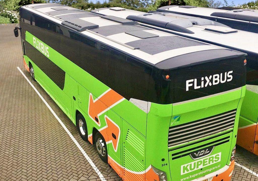 FlixBus - panele słoneczne