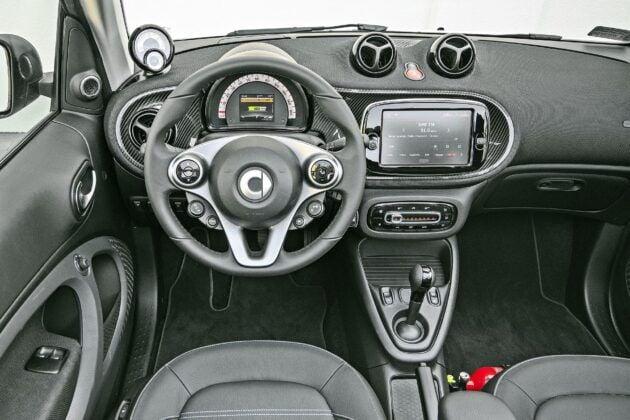 Smart EQ Fortwo Cabrio - deska rozdzielcza