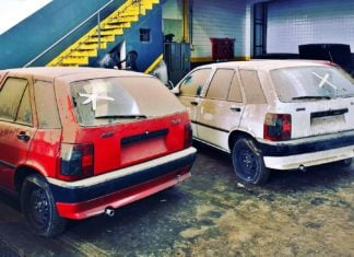 Niecodzienne odkrycie w Argentynie. Magazyn pełen nowych Fiatów z lat 90.