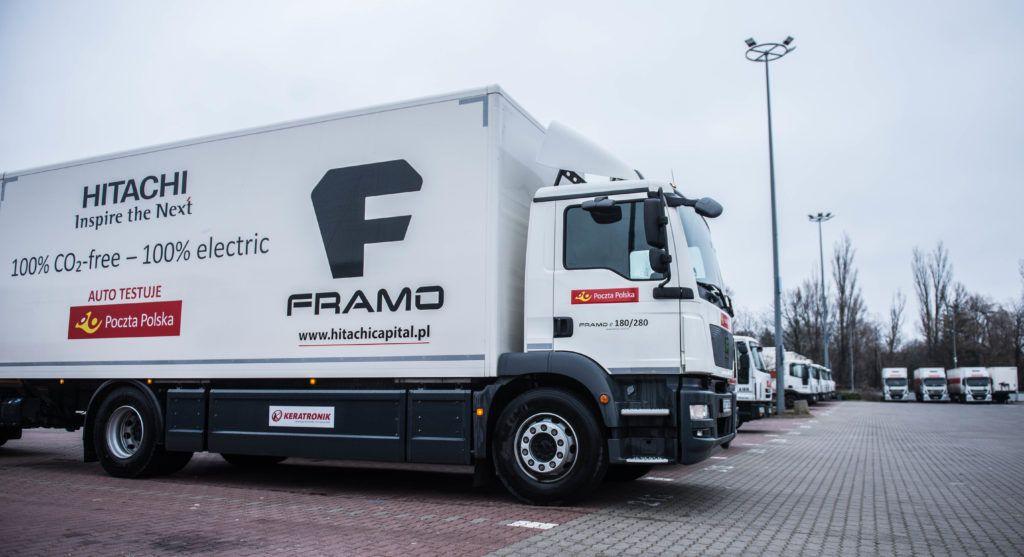 Poczta Polska - testy ciężarówki