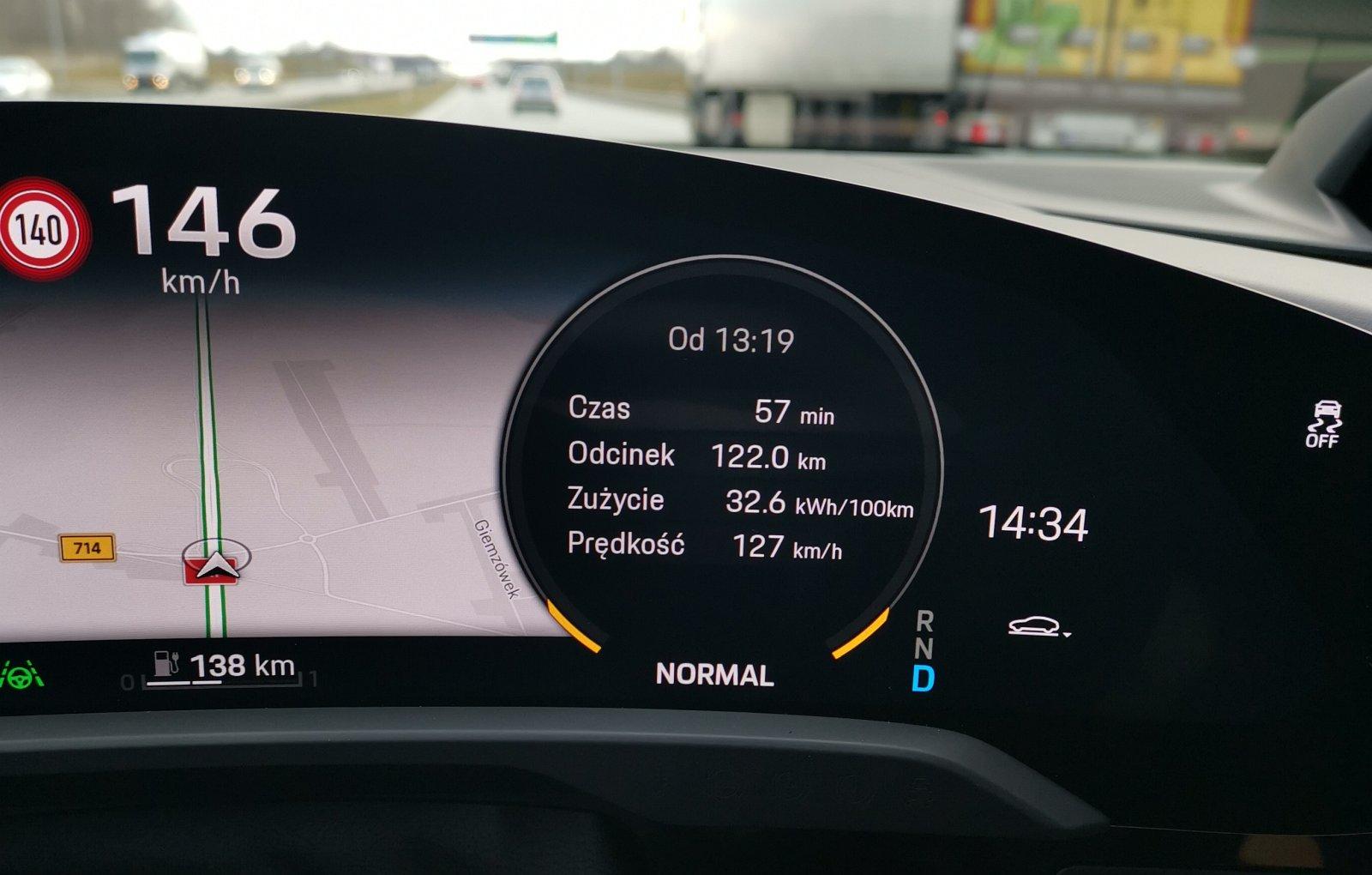 porsche taycan zużycie energii autostrada test pl 2020