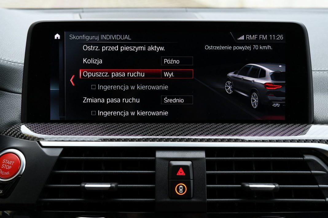 BMW X3 M (2020) - systemy wspomagające