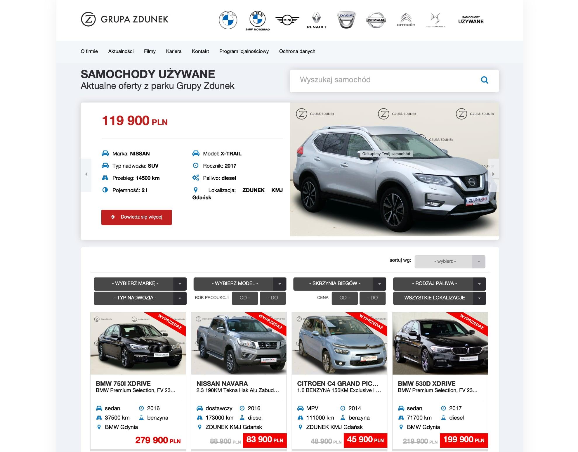 Grupa Zdunek – samochody używane