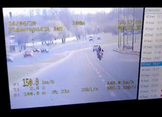 Miał rozmach! 150 km/h skuterem przed nieoznakowanym radiowozem