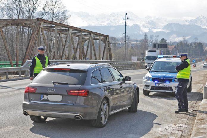 Policyjna kontrola w Zakopanem