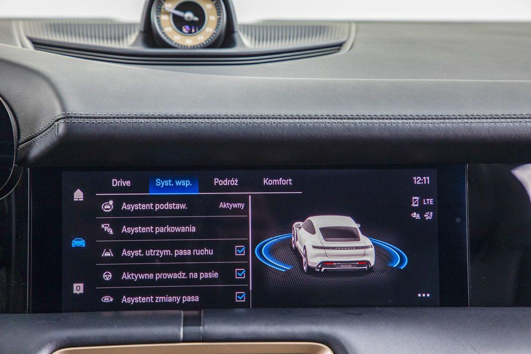 Porsche Taycan Turbo - systemy bezpieczeństwa