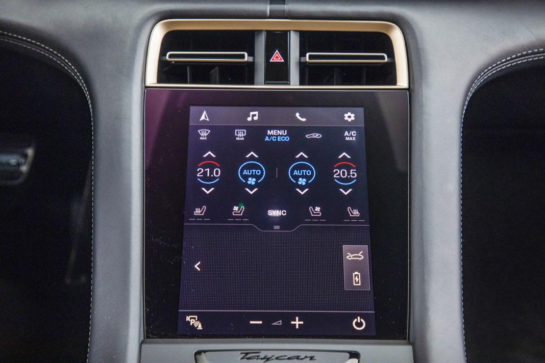 Panel klimatyzacji Porsche Taycan – Test Porsche Taycan Turbo