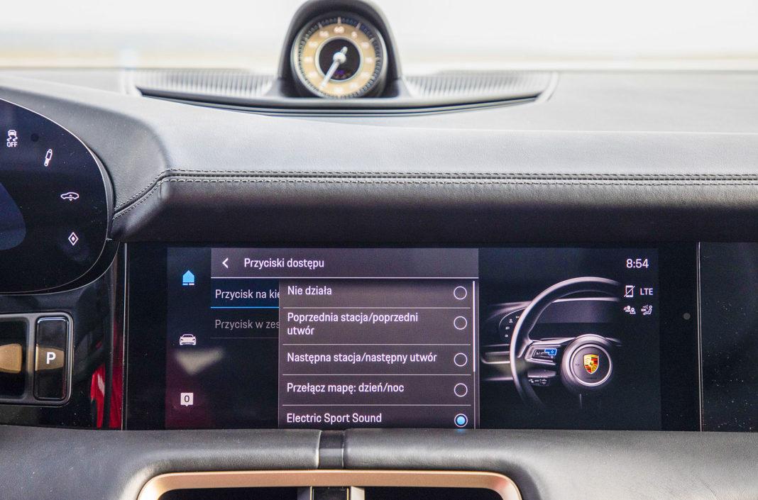 Programowanie przycisków Porsche Taycan – Test Porsche Taycan Turbo