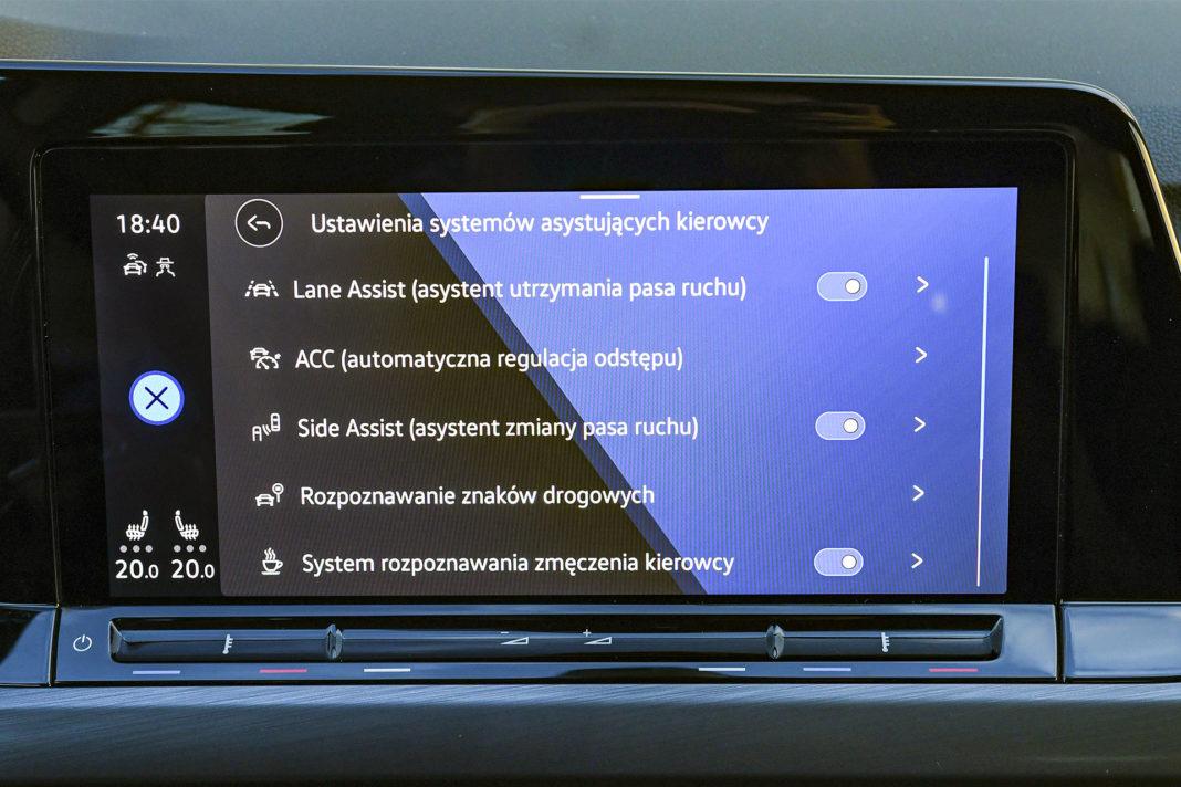 Volkswagen Golf 1.5 eTSI EVO DSG Style - systemy bezpieczeństwa