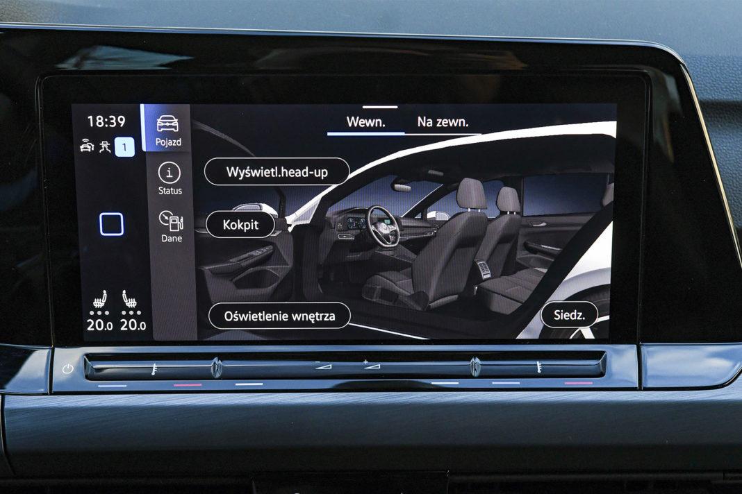 Volkswagen Golf 1.5 eTSI EVO DSG Style - ustawienia wnętrza