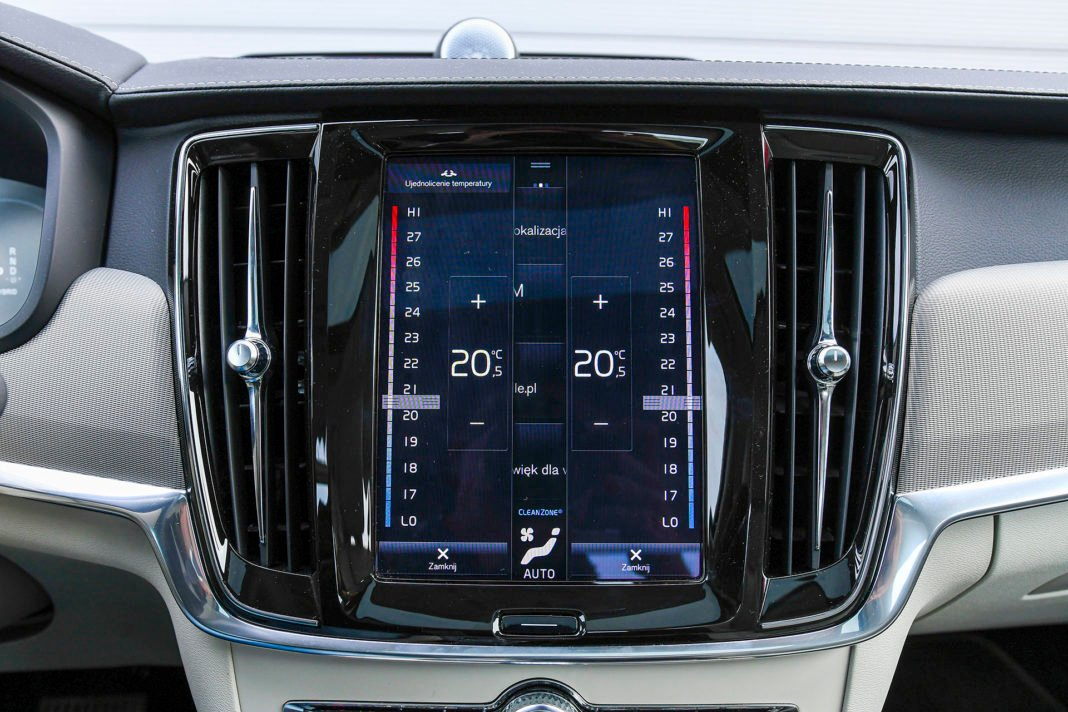 Volvo S90 T8 eAWD Inscription - klimatyzacja