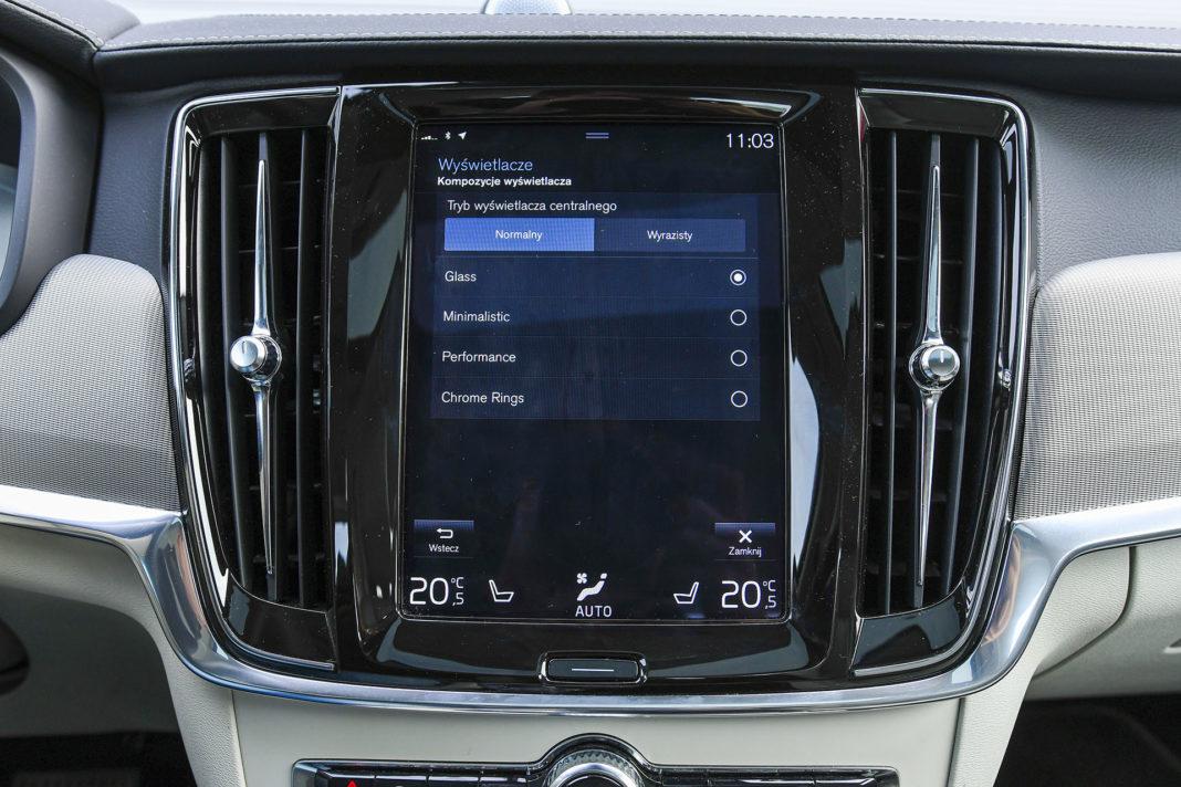 Volvo S90 T8 eAWD Inscription - ustawienia zegarów