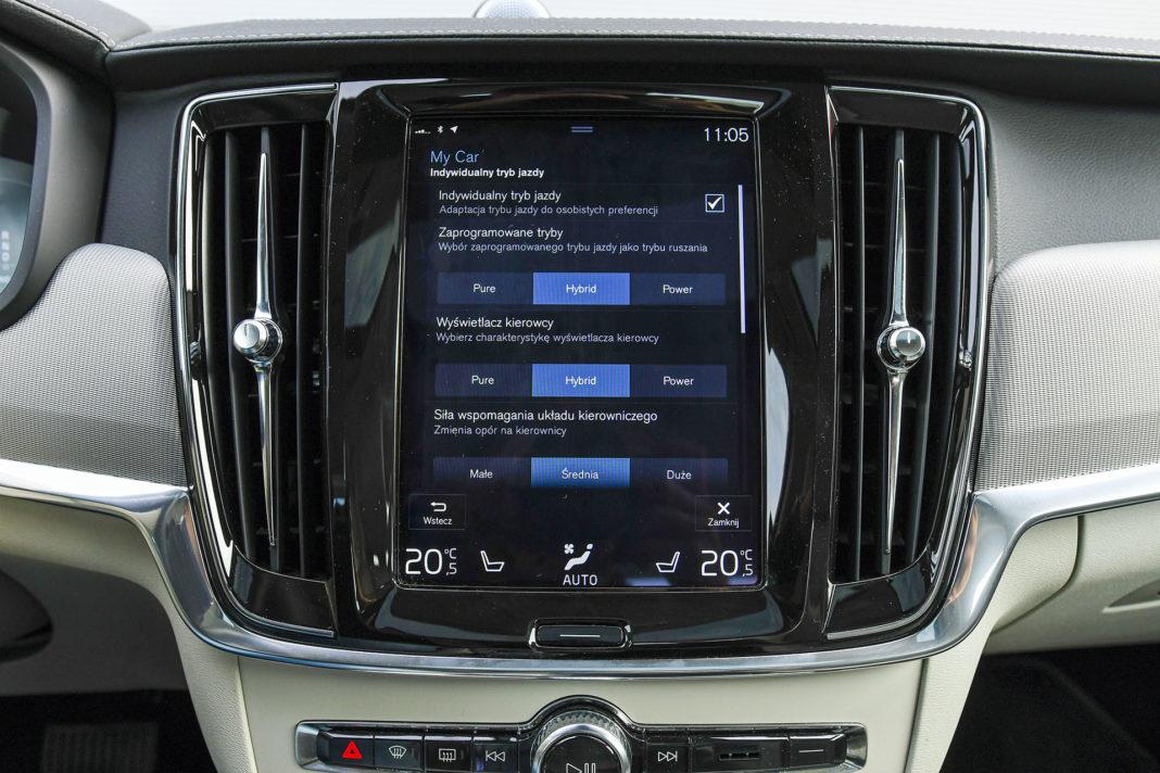 Volvo S90 T8 eAWD Inscription - tryb Individual