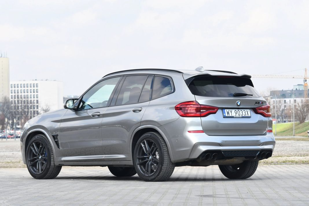 bmw x3 m test 2020 tył