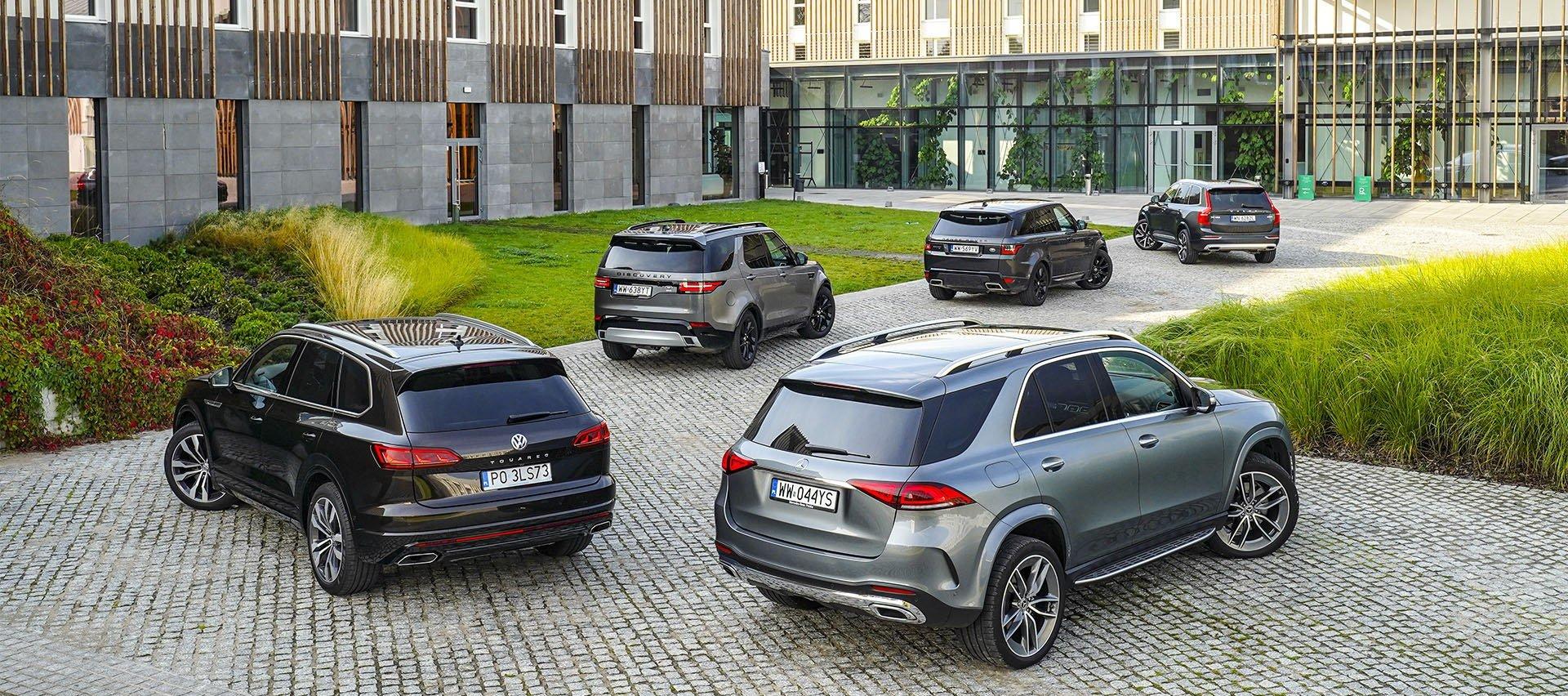 Land Rover Discovery, Mercedes GLE, Range Rover Sport, Volkswagen Touareg, Volvo XC90 – PORÓWNANIE –opinie, dane techniczne, wymiary