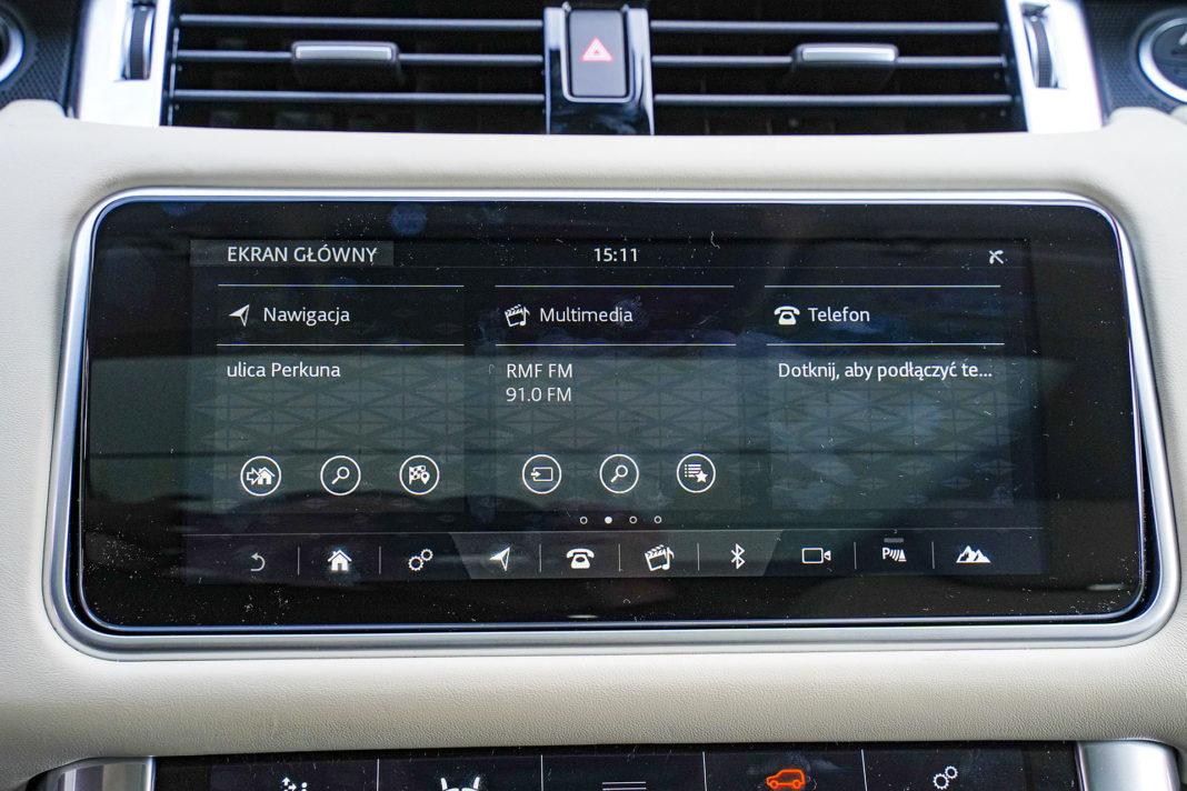 Range Rover Sport - ekran centralny