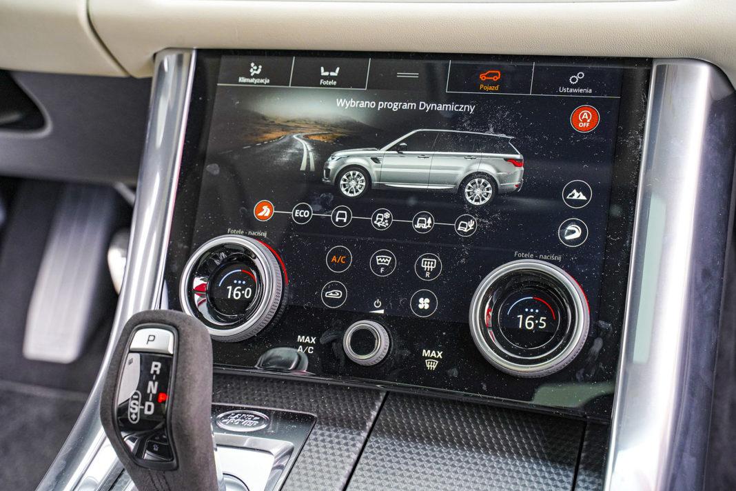 Range Rover Sport - ekran dolny