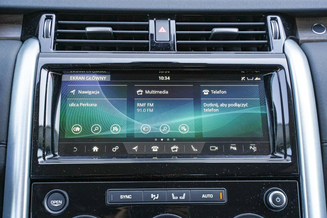 Land Rover Discovery - ekran centralny