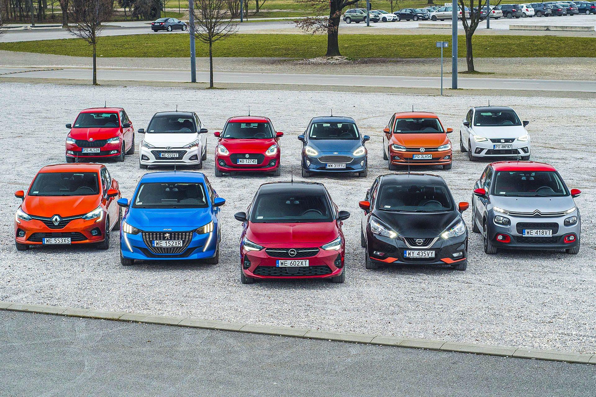 Citroen C3, Ford Fiesta, Hyundai i20, Nissan Micra, Opel Corsa, Peugeot 208, Renault Clio, Seat Ibiza, Skoda Fabia, Suzuki Swift, Volkswagen Polo – PORÓWNANIE