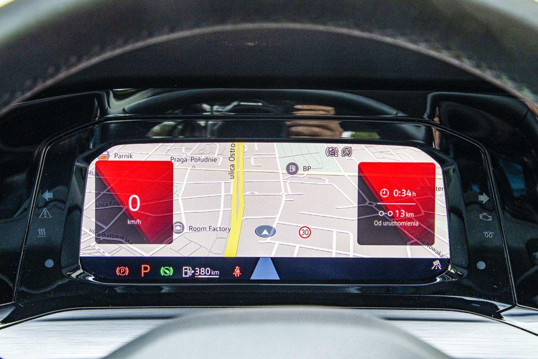 Volkswagen Golf - ekran wskaźników