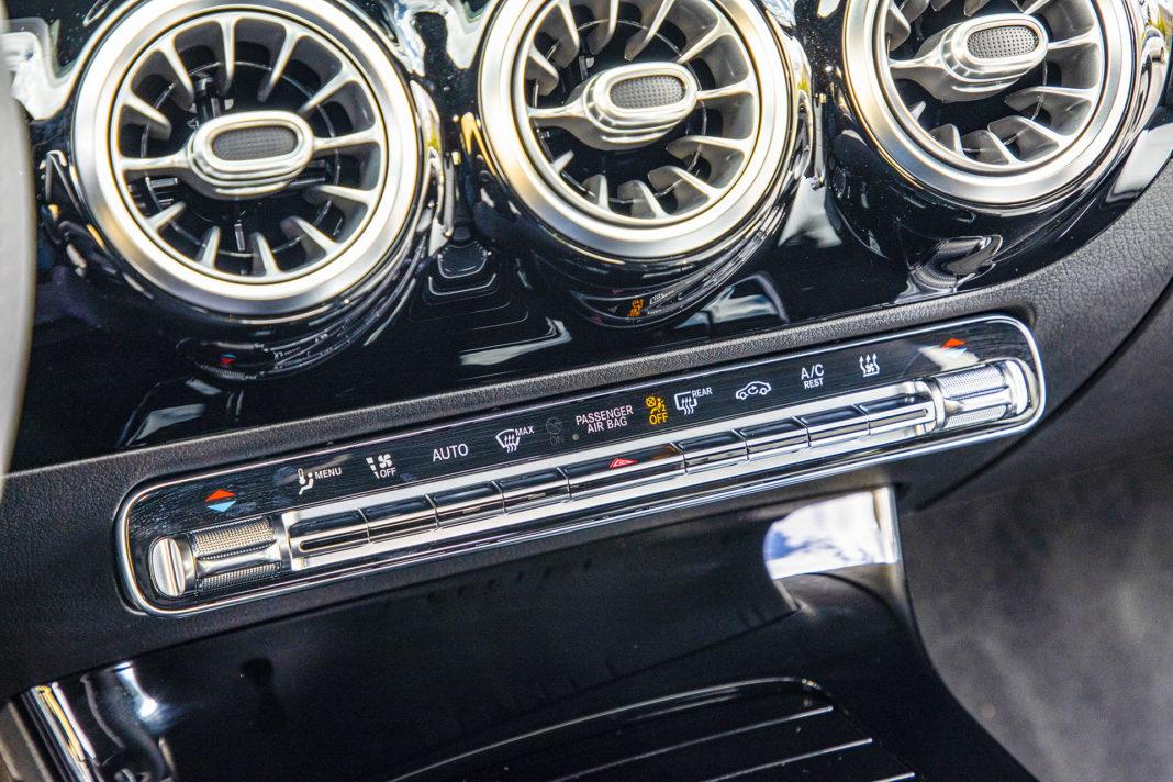 Mercedes klasy A - panel klimatyzacji