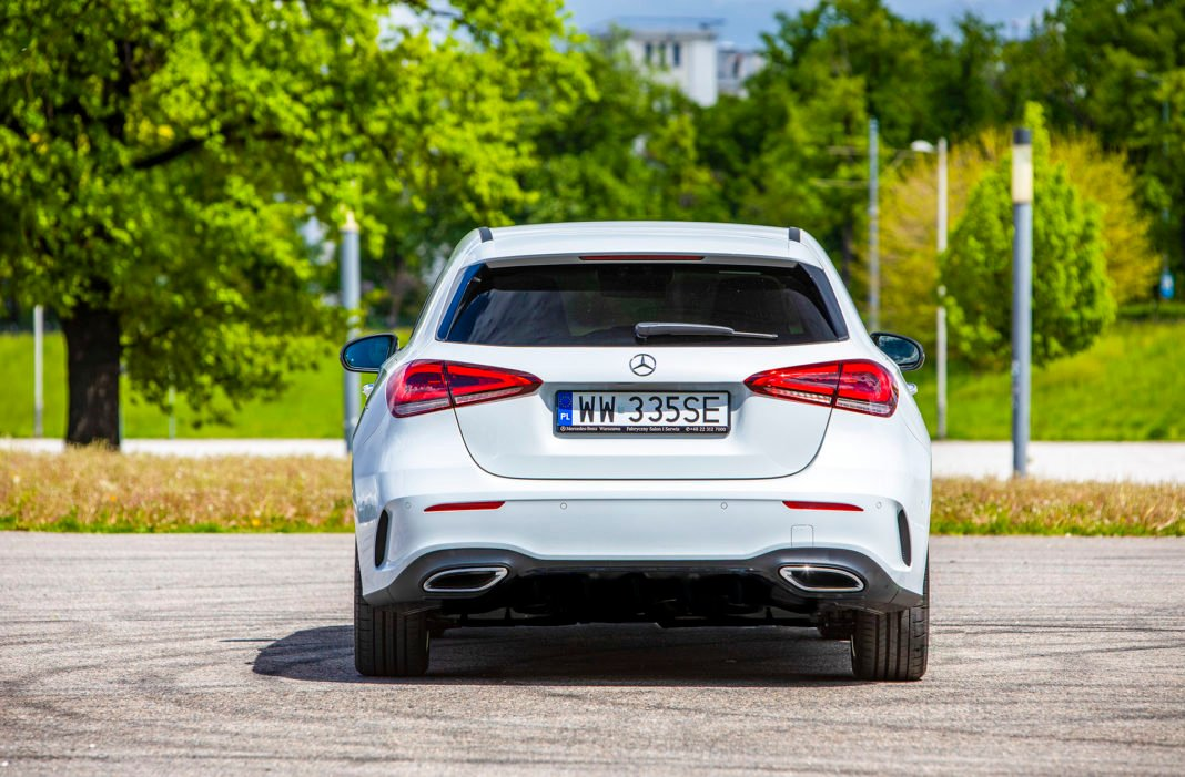 Mercedes klasy A - tył