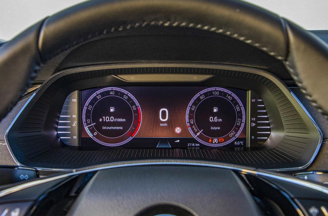 Skoda Octavia IV Combi 1.5 TSI Style test – wskaźniki