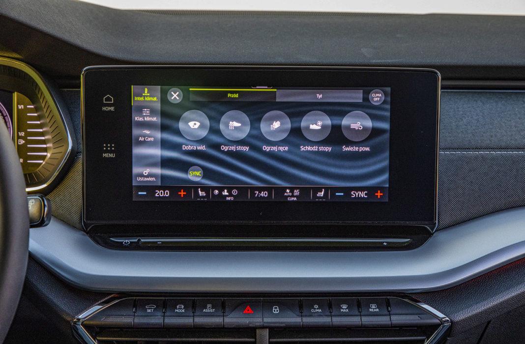 Skoda Octavia IV Combi 1.5 TSI Style test – tryby klimatyzacji