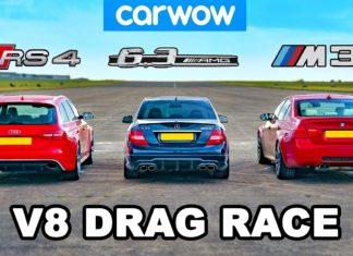 Audi RS4, BMW M3, Mercedes C 63 AMG – pojedynek niemieckich V8