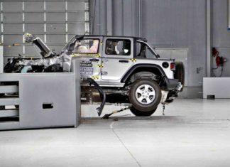 Jeep Wrangler przewrócił się na bok podczas crash testu!