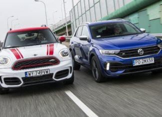 Mini Countryman JCW, Volkswagen T-Roc R – PORÓWNANIE – opinie, spalanie, wymiary, dane techniczne