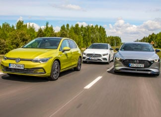 Mazda 3, Mercedes klasy A, Volkswagen Golf - PORÓWNANIE