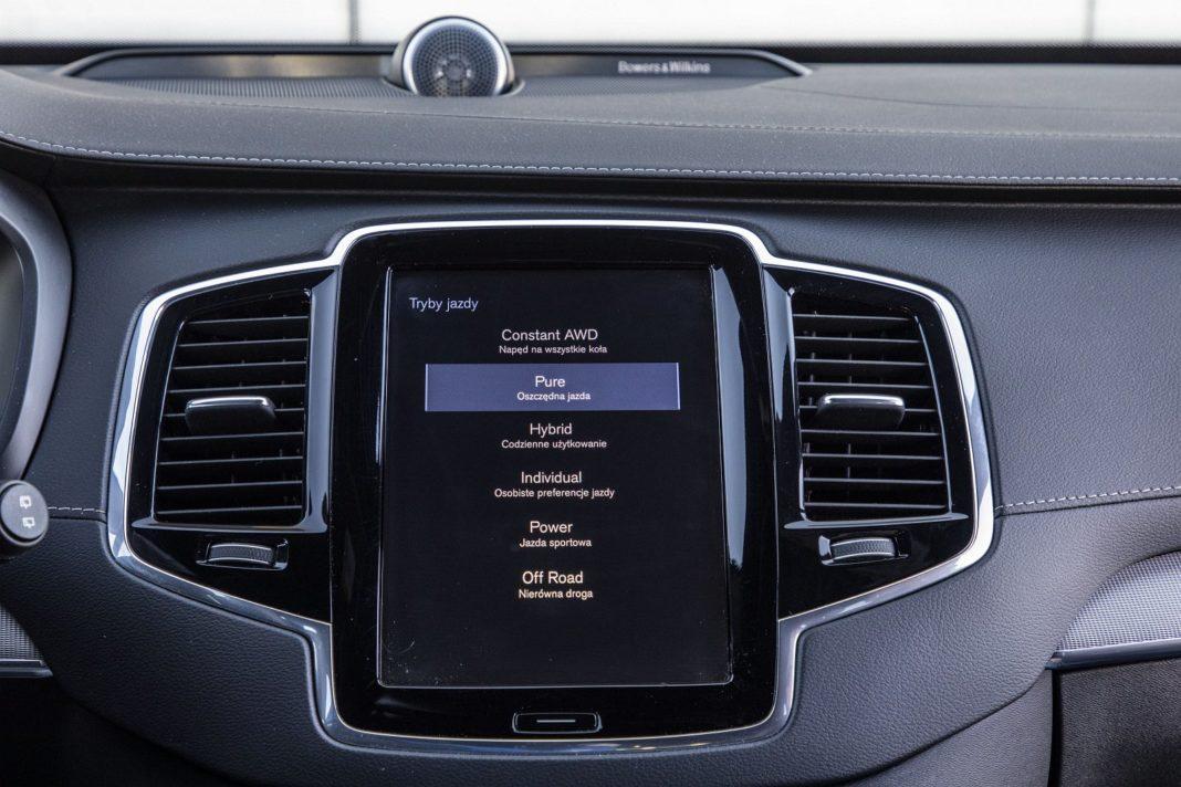volvo xc90 t8 test 2020 tryby jazdy spalanie zużycie paliwa opinia