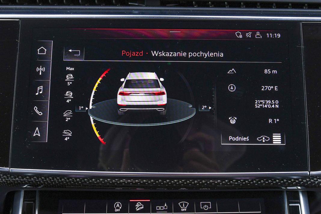 Audi SQ8 – ekran