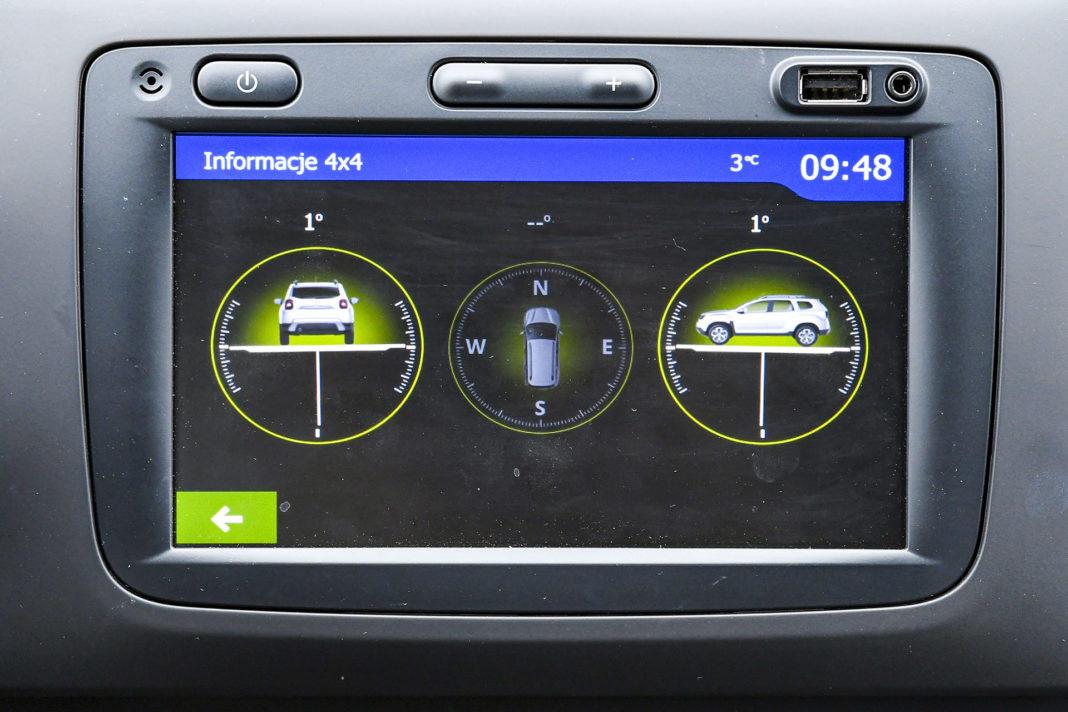 Dacia Duster 4WD - ekran