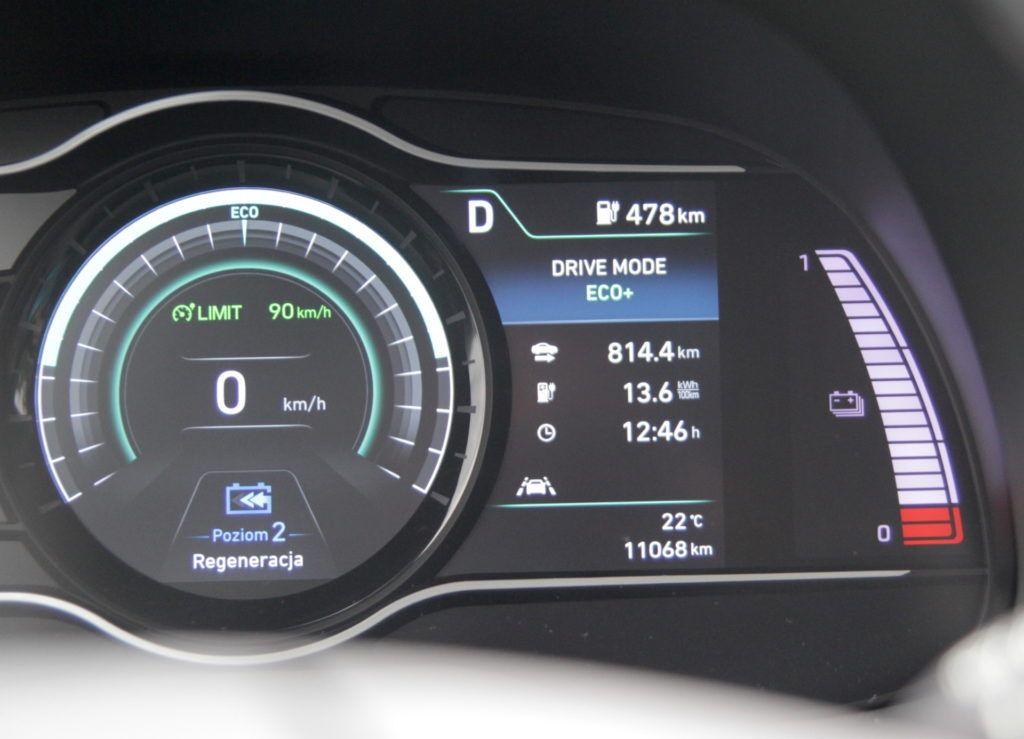 Hyundai Kona Electric - maksymalny zasięg