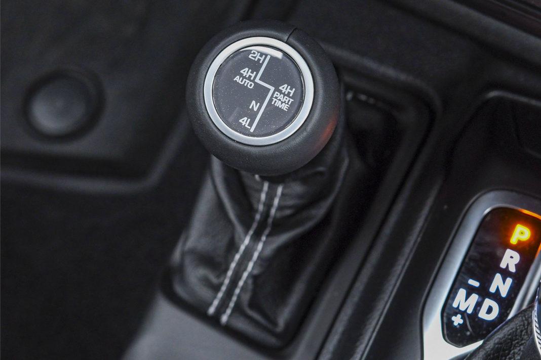 Jeep Wrangler Unlimited – dźwignia