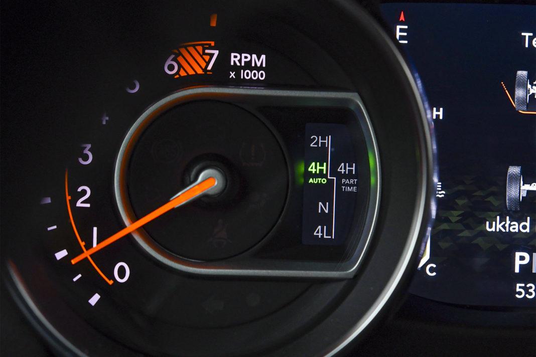 Jeep Wrangler Unlimited – zegar