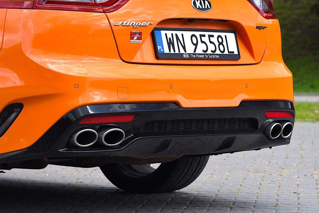 Kia Stinger 3.3 V6 GT - wydech