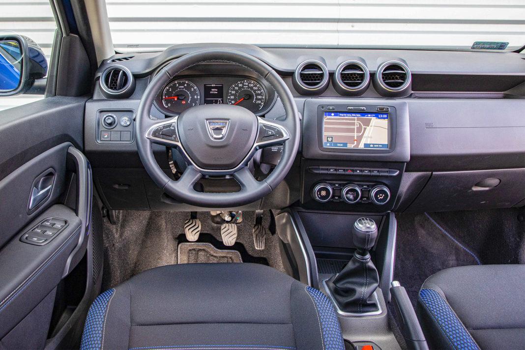 Dacia Duster 1.0 TCE 100 LPG test – deska rozdzielcza